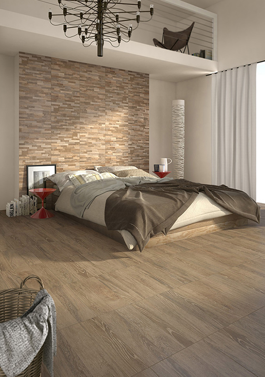 Acero is a woodlike ceramic tile with a very affordable price