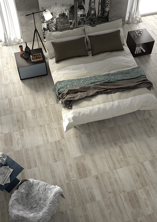 Sestola grey is a woodlike ceramic tile with a very affordable price