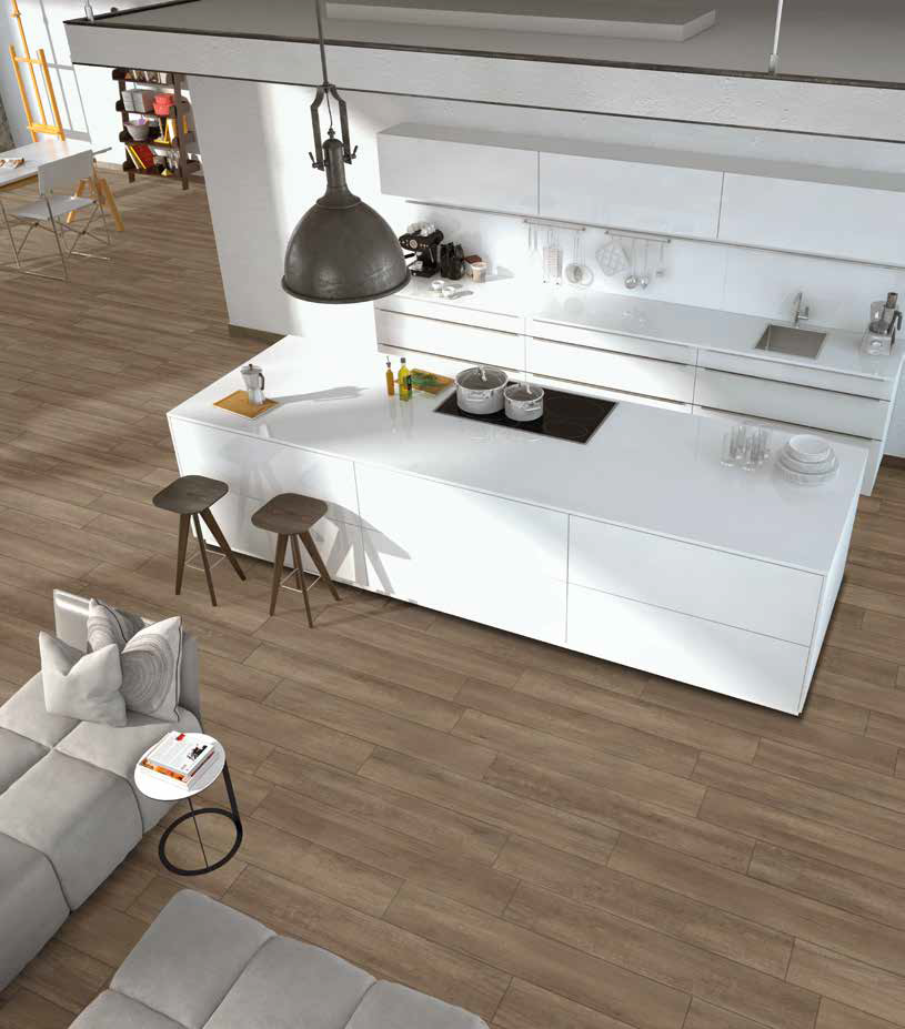 Sierra Ceramic is one of a kind, unique tile which pays tribute to the natural authenticity of wood and its veining effects.