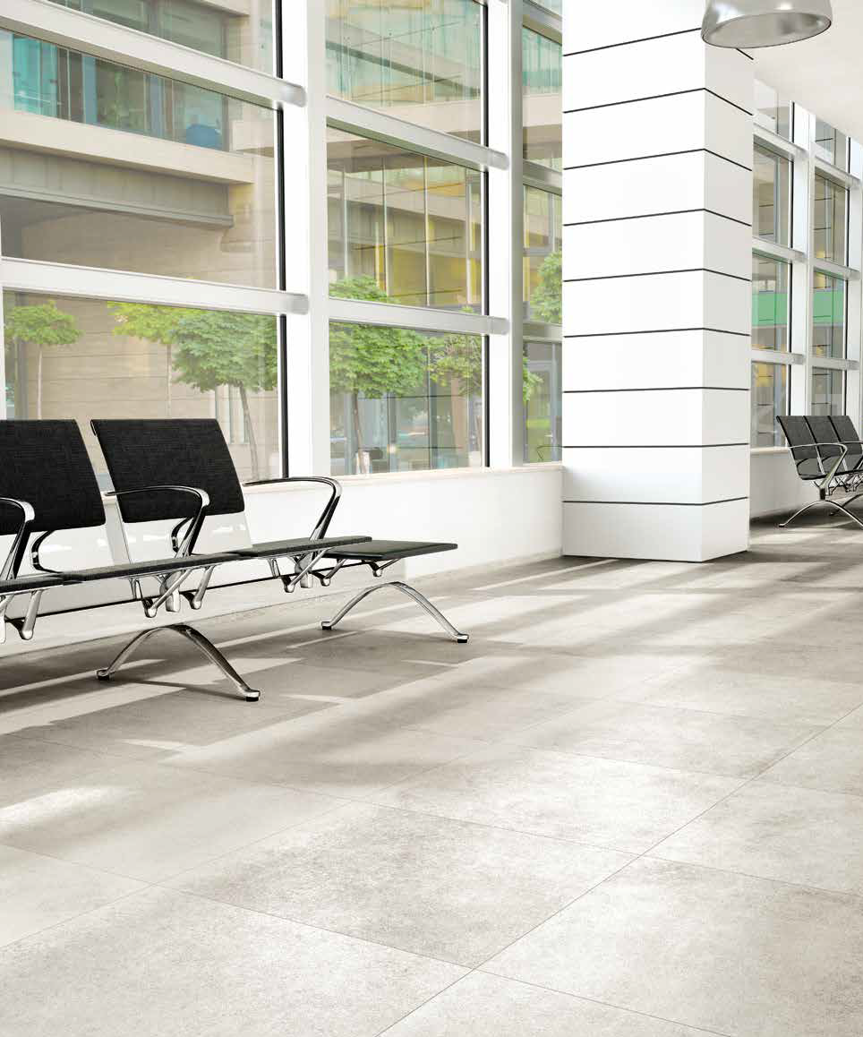Technika tile is the result of advanced technologies, aesthetic and strength features for materials designed for public places.